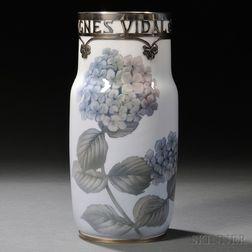 Royal Copenhagen Sterling Silver-mounted Vase