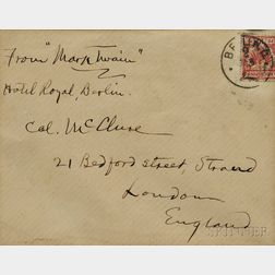 Twain, Mark (1835-1910) Holograph Signed and Addressed Envelope.