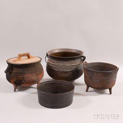 Four Cast Iron Pots