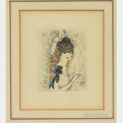 Marie Laurencin (French, 1883-1956)      Le chapeau sur les yeux