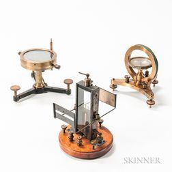 Three Early 20th Century Scientific Apparatus