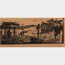 Tay Chee Toh (b. 1941) Ink Woodblock Print