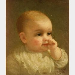 Attributed to Edwin T. Billings (American, 1824-1893)  Baby.