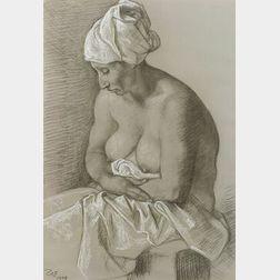 Francisco Zuniga (Mexican, 1913-1998)  Female Bather