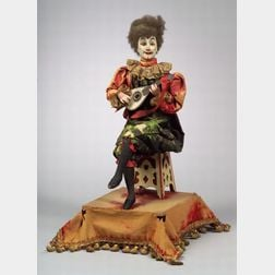 Lambert Automaton of a Clown Playing the Mandoline