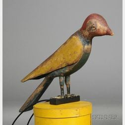 Polychrome Carved Bird Figure