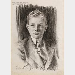 John Singer Sargent (American, 1856-1925)      Portrait of Henry L. Higginson II