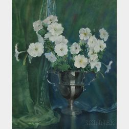 Clara Louise Carleton (American, 1869-1958), After Laura Coombs Hills (American, 1859-1952)      Still Life with White Petunias.