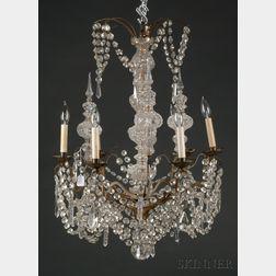 Charles X Six-light Crystal Lustre Chandelier