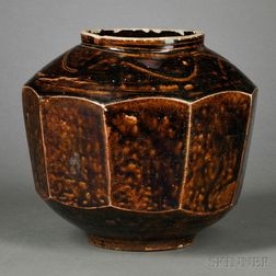 Caramel-glazed Beveled Jar