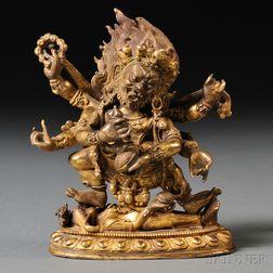 Gilt-bronze Figure of Mahakala