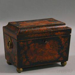 Lacquered Casket-form Tea Caddy