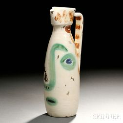 "Pablo Picasso (Spanish, 1881-1973) ""Visage"" Pottery Pitcher"