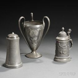 Three Pewter Sachem's Head Yacht Club Trophies