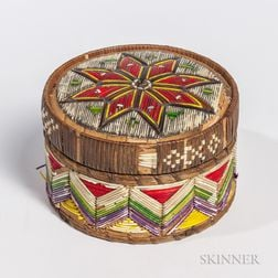 Micmac Lidded Basket