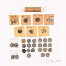Group of Shield, Liberty, Buffalo, and Jefferson Nickels