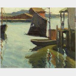 Edith Brisco Stevens (American, 1896-1931)  Noon Light, Gloucester, Mass.