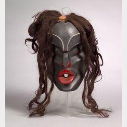 Northwest Coast Painted Wood Mask