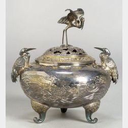 Partial Gilt-silver Incense Burner