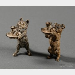 Two Miniature Austrian Cold Painted Bronze Figures of Animals