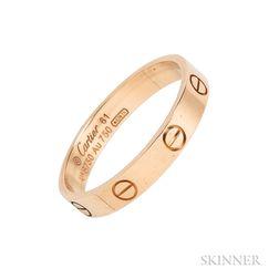 "18kt Gold ""Love"" Ring, Cartier"