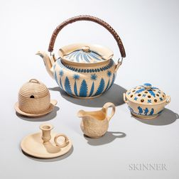 Five Wedgwood Caneware Items