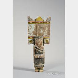 Large Hopi Palhik Mana or Butterfly Maiden Katsina