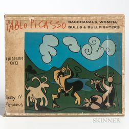 Picasso, Pablo (1881-1973) Picasso Linoleum Cuts: Bacchanals, Women, Bulls & Bullfighters.
