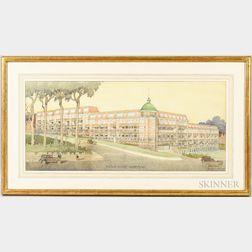 Cyril Arthur Farey (British, 1888-1954)      Architectural Watercolor Rendering