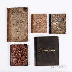 Catherine Bolland Foster Extract Book, Two Mary H. Stone Extract Books of Verse, an Unnamed Book of Verse, and Ancestral Tablets Geneal
