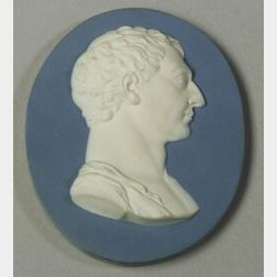 Wedgwood and Bentley Solid Blue Jasper Portrait Medallion of George Washington