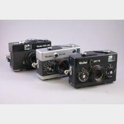 Three Rollei 35 Cameras