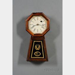 Mahogany Miniature Keyhole Wall Clock by Chauncey Jerome
