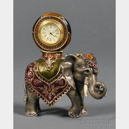 "Enamel and Swarovski Crystal ""Cleopatra"" Elephant Clock, Jay Strongwater"