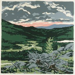 Neil Welliver (American, 1929-2005)      Briggs' Meadow