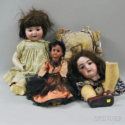 Three Simon & Halbig Bisque Head Dolls