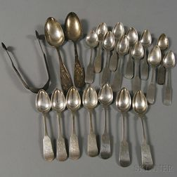 Small Group of Coin Silver Flatware