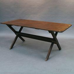 Country Pine Sawbuck Table