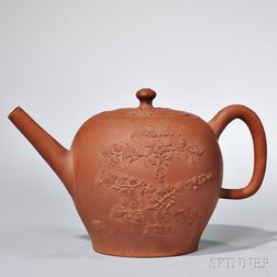 Staffordshire Redware Teapot and Cover