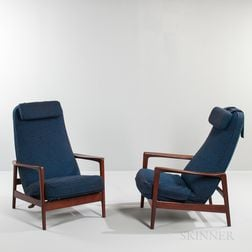 Pair of Folke Olsen for Dux Reclining Lounge Chairs