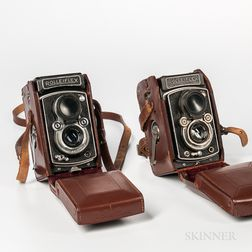 "Two Rolleiflex ""Automat"" TLR Cameras"