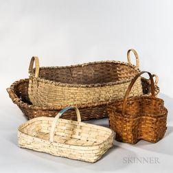 Four Splint Baskets