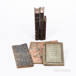 Four Historical Works and Two Manuscript Account Book/Ledger Name Indexes.