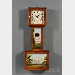 "Mahogany Connecticut ""Banjo"" Wall Clock attributed to Eli Terry, Jr."