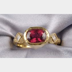 22kt Gold, Ruby, and Diamond Ring, Cathy Waterman