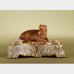 Paris Porcelain Figural Inkstand