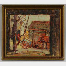 Dorothy Stanley Emmons (American, 1891-1960)      Hasken's Wharf