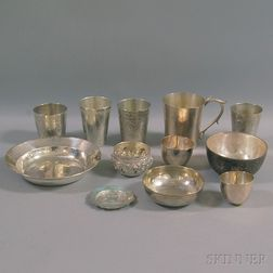 Group of Silver-plated and Silver Articles
