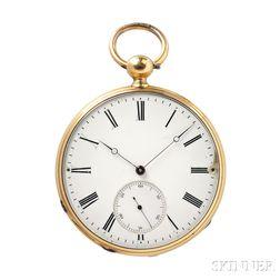 Rossel et Fils 18kt Gold Open Face Chronometer