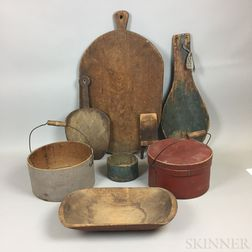 Small Group of Wooden Kitchen Items